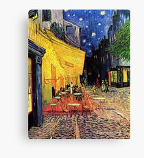 The Cafe Terrace on the Place du Forum, Arles, at Night,  Vincent van Gogh Leinwanddruck