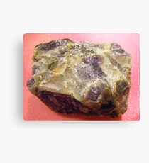Amethyst  raw. Canvas Print