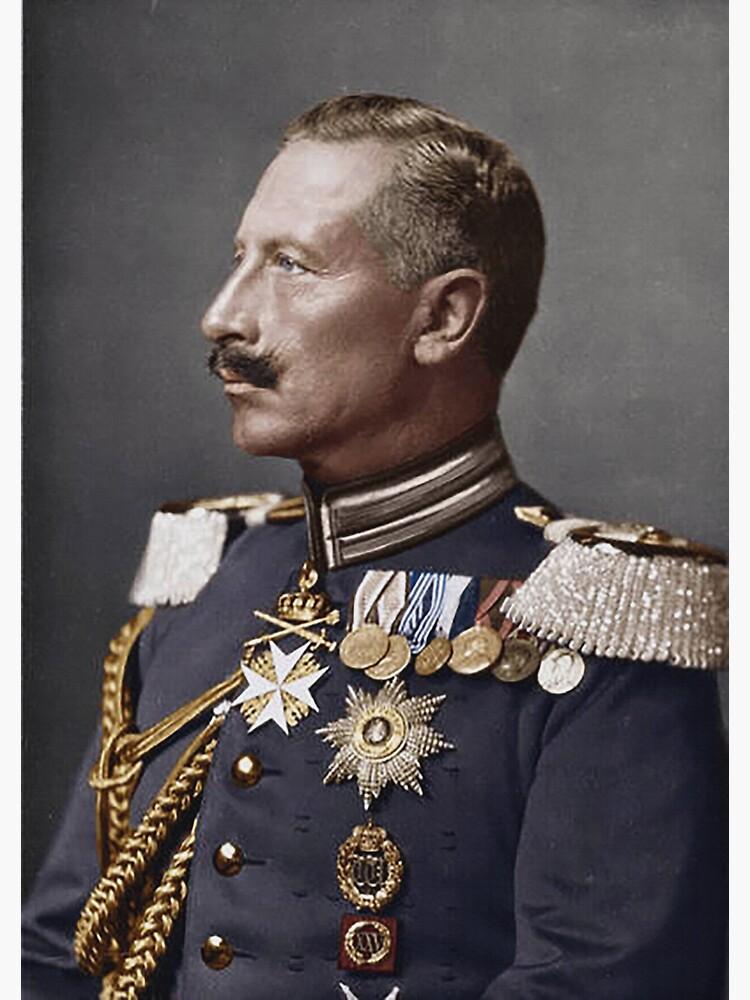 Kaiser Wilhelm II... profile portrait in military uniform by edsimoneit