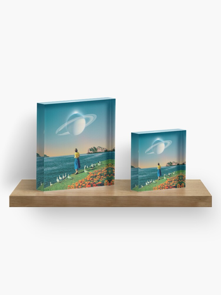 Alternate view of Watching Planets Acrylic Block