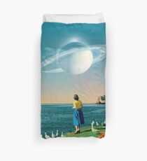 Watching Planets Duvet Cover