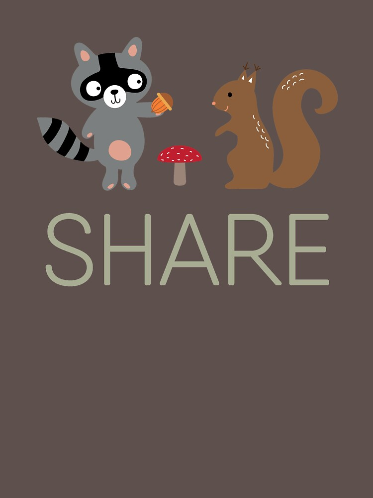 SHARE - HAPPY FOREST CREATURES SHARING, POPULAR ANIMAL DESIGN by NotYourDesign