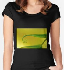 curled Women's Fitted Scoop T-Shirt