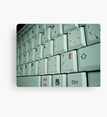 Closeup Keyboard Canvas Print