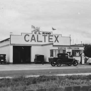 Charlie Rands Caltex Garage in Somerset, Tasmania  by taspaul