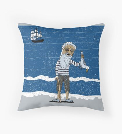 The Ancient Mariner Throw Pillow