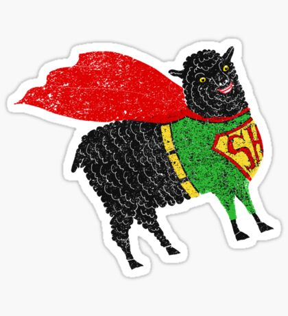Superhero  Sheep Sticker