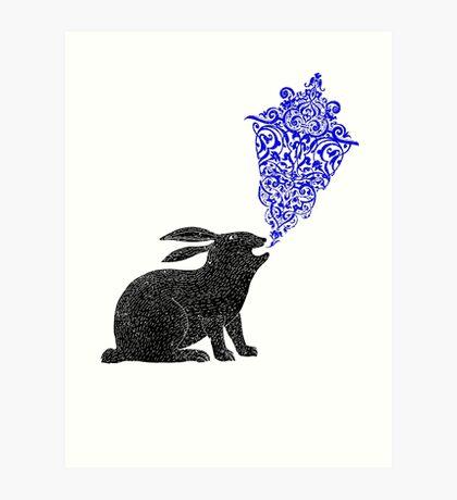 Rabbit Sings the Blues Art Print