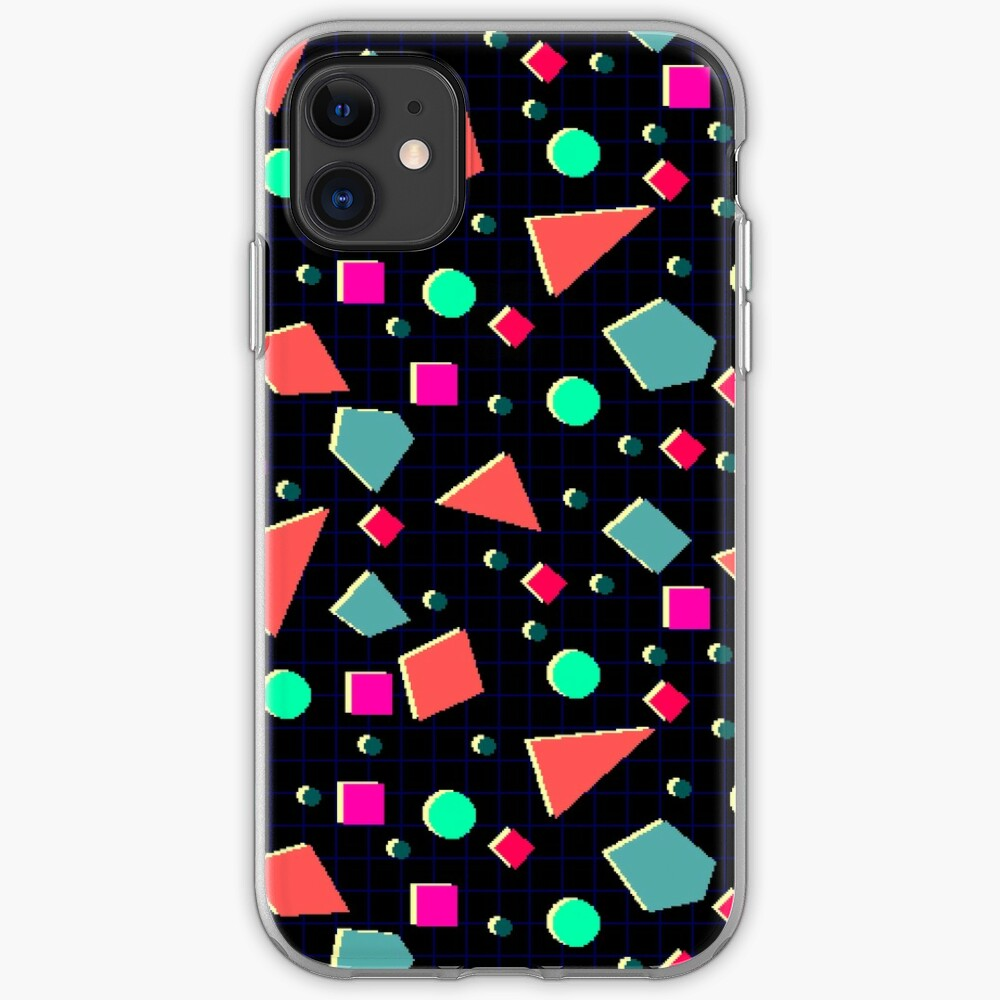 Neonretro Pixel Pattern iPhone Case & Cover