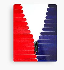 Red-White-Blue Popsicle Sticks Zip Metal Print