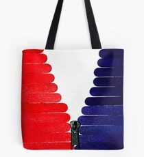Red-White-Blue Popsicle Sticks Zip Tote Bag