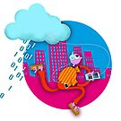 Cloud computing / commuting by Phil  Brown