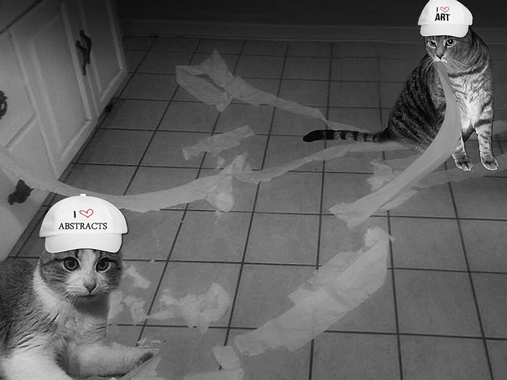 FELINE ABSTRACT ARTISTS..HUMOUR PICTURE..JUST FOR THE FUN OF IT LOL.. by ✿✿ Bonita ✿✿ ђєℓℓσ