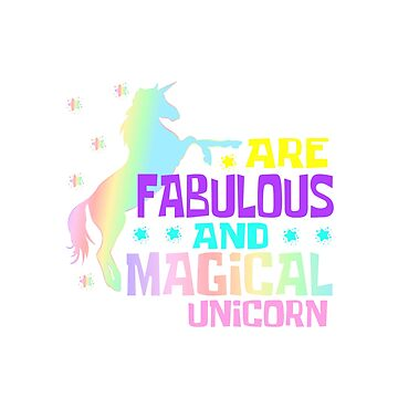 Unicorn T-Shirt Typography With Unicorn Saying Language Arts Teacher Are Fabulous And Magical Magic by Customdesign200