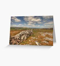 Beautiful Burren View Greeting Card