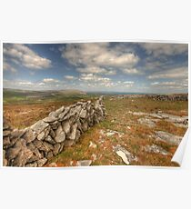 Beautiful Burren View Poster