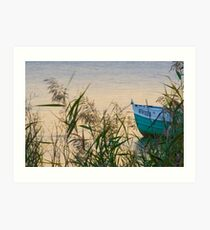 Sunset by the shore Art Print