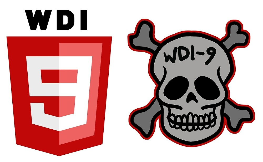 WDI-9 - skull and badge combo - small by warpigeon