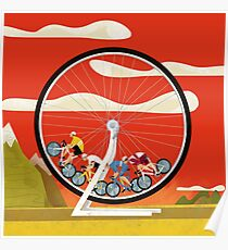 Road Cycle Racing on Hamster Power Poster