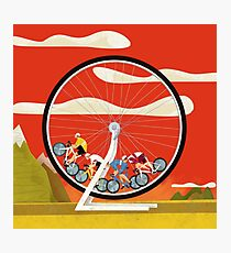 Road Cycle Racing on Hamster Power Photographic Print