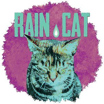 Katze im Regen 2 von Periartwork
