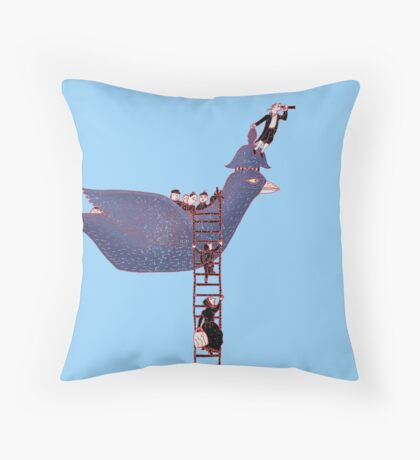 Bird Rescue Boat Throw Pillow