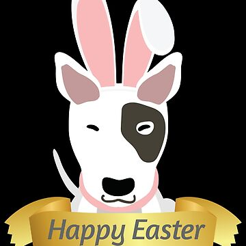 Bullterrier Happy Easter Bunny Ears Dog Lovers Gift by peter2art