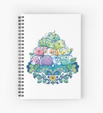 Blooming Piggy Pile  Spiral Notebook