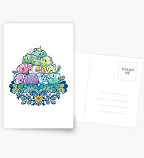 Blooming Piggy Pile  Postcards