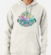 Blooming Piggy Pile  Pullover Hoodie