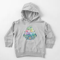 Blooming Piggy Pile  Toddler Pullover Hoodie