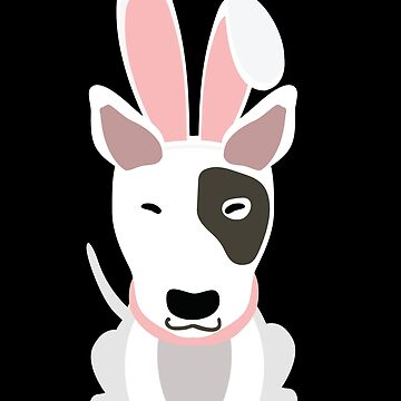 Bullterrier Bunny Ears Happy Easter Dog Lovers Gift by peter2art