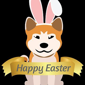 Cute Hasky Happy Easter Bunny Ears Dog Lovers Gift by peter2art