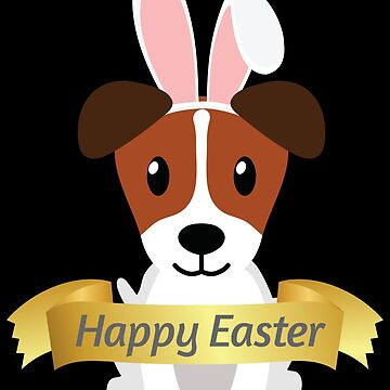 American Foxhound Happy Easter Bunny Ears Dog Lovers Gift by peter2art