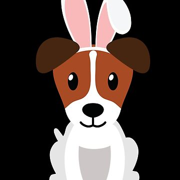 American Foxhound Bunny Ears Happy Easter Dog Lovers Gift by peter2art