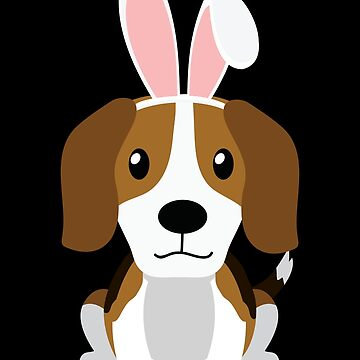 Beagle Doggy Bunny Ears Happy Easter Dog Lovers Gift by peter2art