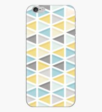 Blue, Mustard and Grey Triangle Pattern iPhone Case