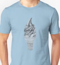 Black and White Ice Cream Cone Unisex T-Shirt