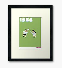 Foot-T poster 'Hand Of God' Framed Print