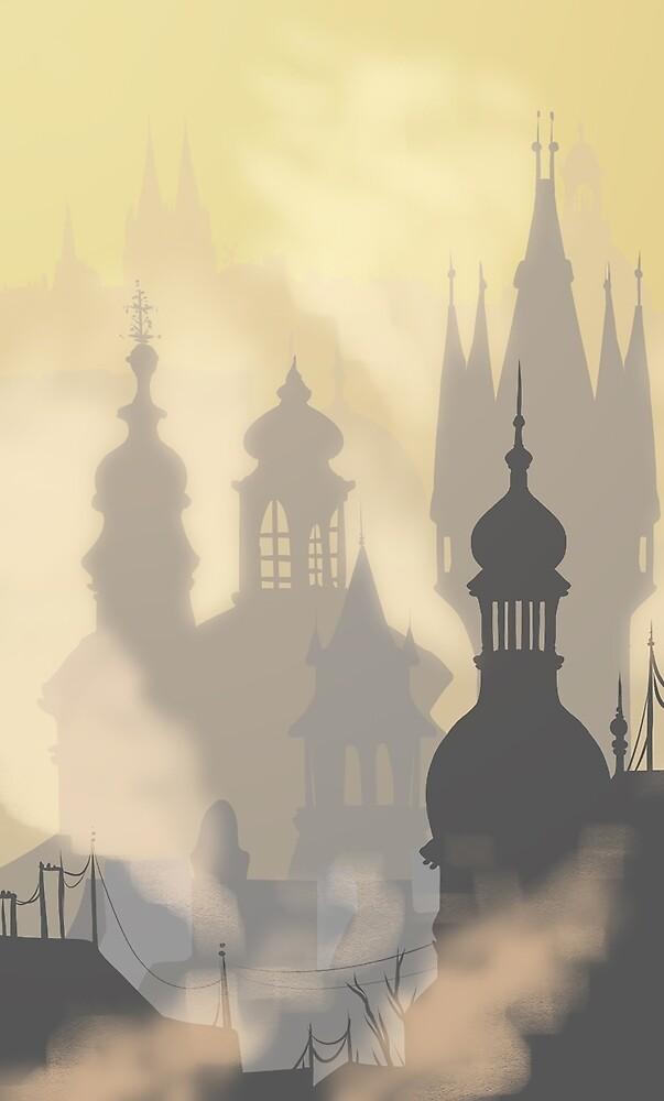 sunrise buildings by Mel Fox