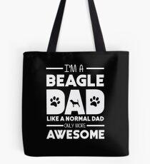 Awesome Beagle Dad Tote Bag