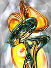 Cosmic Flame Abstract by Alexander Butler