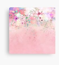 Botanical Fragrances in Blush Cloud-Ιmmersed Metal Print