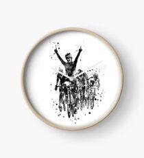 Cycling race, watercolor cycling race Clock