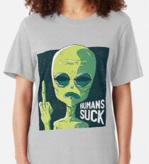 alien Human Suck Slim Fit T-Shirt