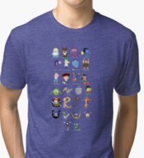 Animated characters abc Tri-blend T-Shirt