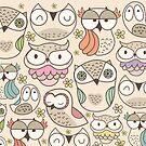 Owl pattern by mjdaluz