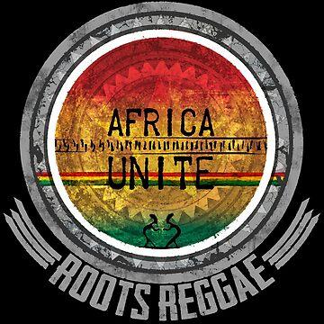 Afrika Unite Roots Reggae - Dein neues Raggaeshirt, der Festivalsommer kann kommen! von Periartwork