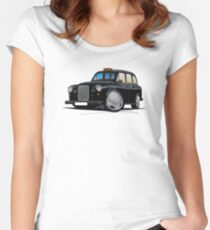 London Fairway Taxi Black Women's Fitted Scoop T-Shirt