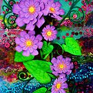 Purple blooms of fun and courage by lizzymasonart